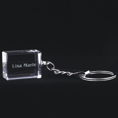 etched crystal kee fob