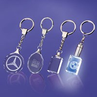 etched crystal key rings