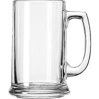 engraved glass beer stein
