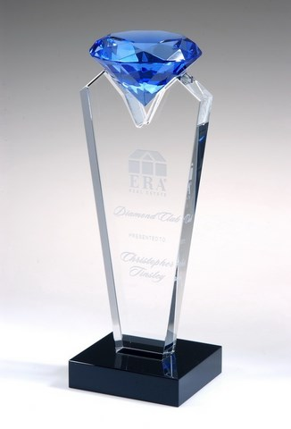 etched crystal award