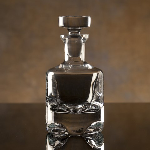 etched crystal decanter