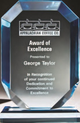 etched acrylic award