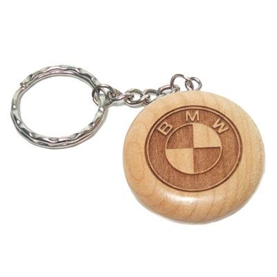 laser engraved wood key fob
